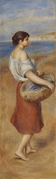 Girl with a basket of fish 1889 xx naitonal gallery of art washington